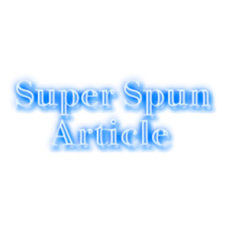 Super Spun Article