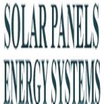 Solar Panels Energy Systems