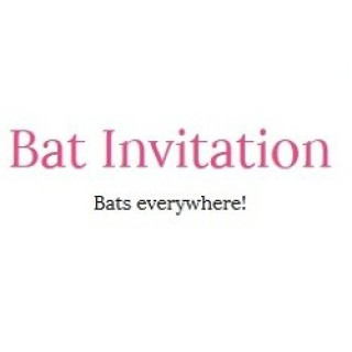 Bat Invitation