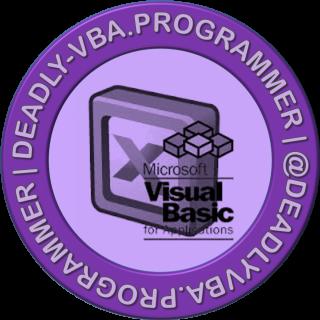 Deadly VBA Programmer