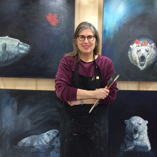 Christine Montague Polar Bear Art